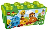 LEGO 10863 DUPLO My First Animal Brick Box Construction Set, Easy Toy Storage, Preschool Toys for Kids 1½-3