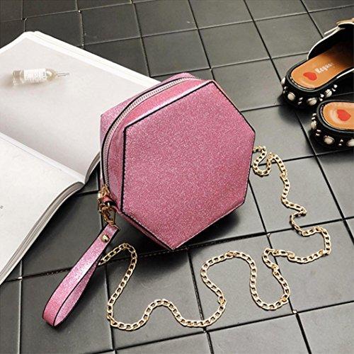 Borse Da Donna, Huhu833 Borsa Tracolla Donna Crossbody Stile Moda Femminile Fresco Con Paillettes Rosa