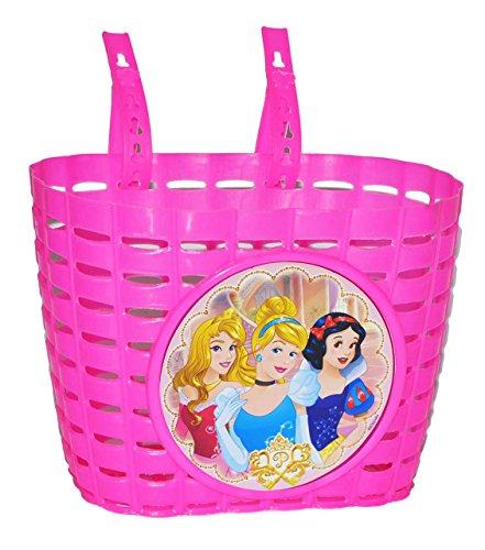 Fahrradkorb / Korb - Disney Prinzessinnen mit Befestigung den Lenker vorn - Fahrrad Motiv Arielle Belle Cinderella - auch für Roller und Dreiräder / Kinderfahrrad Kinder (Princess Roller Kinder Für)