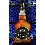 Wods India Velvet Same Print Both Sides Whisky Bottle Shape Cushion 1 Piece (blenders Pride)