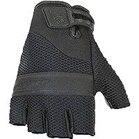 Joe Rocket Vento Men's Fingerless Motorcycle Riding Gloves (Black, Large)