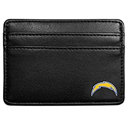 NFL San Diego Chargers Leather Weekend Wallet, Black