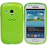 Luxburg® Diamond Design Schutzhülle für Samsung Galaxy S3 Mini GT-I8190 in Farbe Smaragd Grün, Hülle Case aus TPU Silikon