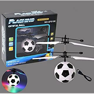 AZX Remote Control Flying Ball, Led Lighting Flash Infrared Induction Fly Ball Helicopter Aircraft For Kids Children Catapult Shooting Game Colorful Flyings Toys ((Football))