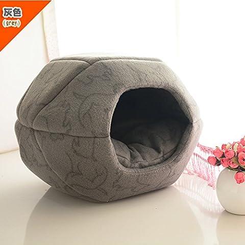 ZPP-Autunno e Inverno sacco a pelo lettiera di gatto Kennel Mongolia stagioni Wo Wo tenda cuscino letto forniture pet,Red Stripe,L