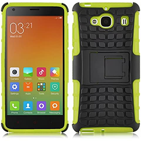 [ Xiaomi Redmi 2 / Hongmi 2 / Red Rice 2 ] - Carcasa Alligator JAMMYLIZARD Heavy Duty Case De Alta Resistencia, VERDE