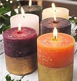 St Eval con rifiniture in oro con candela profumata, fragranza al dolce di fichi, colore: rosso-Candela in fotografia)