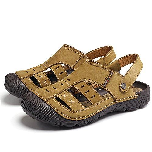 Xing Lin Sandales Pour Hommes Sandales Hommes Cool Pantoufles Baotou Nouveaux Étudiants Sauvages LUsure De La Jeunesse Khaki