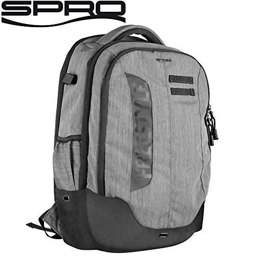 Spro Freestyle Backpack 50x32x16cm - Angelrucksack für Kunstköder, Rucksack für Spinnangler, Angeltasche Zum Street Fishing