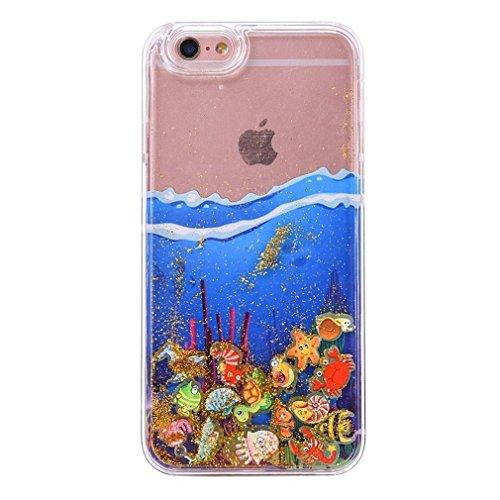 Glitzer Hülle für iPhone 6S,iPhone 6 Hülle,iPhone 6 Hülle Transparent Crystal Bling Glitzer Flüssig Case Hülle Klare Ultradünne Plastik Gel Schutzhülle für iPhone 6S / 6 4.7 Zoll,EMAXELERS iPhone 6S H Ocean Liquid 3