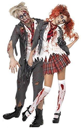 Imagen de parejas mujer hombre zombie escuela chica escuela boy uniforme halloween fancy dress trajes disfraces