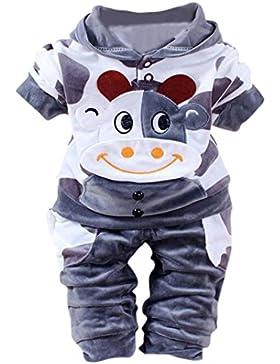 MYQyiyi bebé ropa calinte de terciopelo de dibujo animado de Vacas con capucha