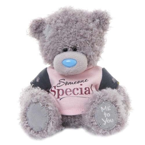 Me to You 6-inch Tatty Teddy Bear Wearing Someone Special T-Shirt Sits (Grey)