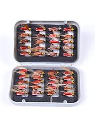 BrilliantDay Caja de Almacenaje con 40pcs Carnadas Artificiales Agarre Pez Grande Captura Aterrizaje Pesca Deportivo #3