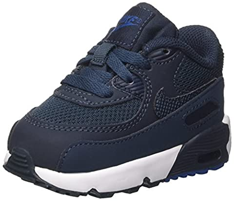 Nike Jungen Air Max 90 Mesh Bt Sneakers, Blau (Armory Navy/Armory Navy/Blue Jay/White), 22 EU (Nike Kinder Air Max)
