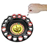 wuudi Lucky shot Glass spinning roulette Drinking Game set (2 balls and 16 GLASSES)