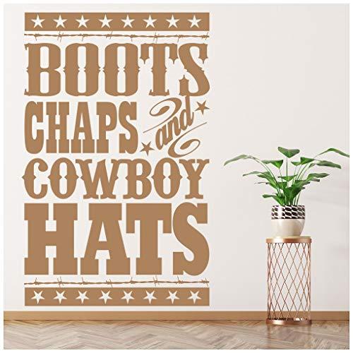 Wandtattoo Cowboy-Zitat Wand Sticker Jungen Schlafzimmer Haus Dekor verfügbar in 5 Größen und 25 Farben Extraklein Nuss Braun ()