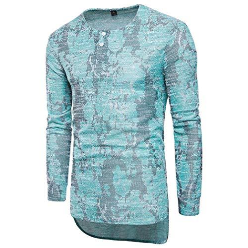 BaZhaHei Herren Langarm Mode Männer Bluse Langarm Fit Pullover Shirt Gedruckt Top Farbverlauf...