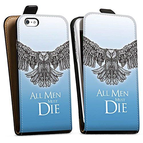 Apple iPhone X Silikon Hülle Case Schutzhülle GOT Statement Game of Thrones Downflip Tasche schwarz
