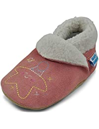 Suede Baby Slippers Shoes Toddler Slippers Kids Slippers - Fleece Lined- Boys Slippers - Girls Slippers