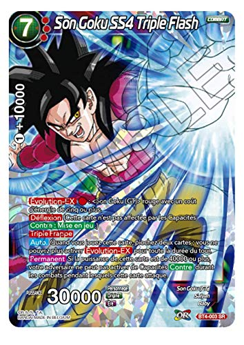 Dragon Ball Super - Son Goku SS4 Triple Flash : BT4-003 SR -VF-