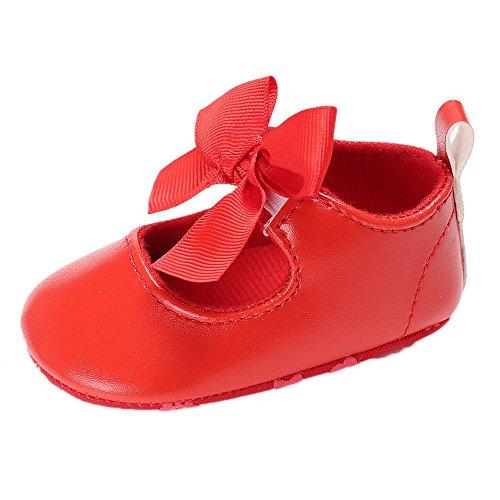 YanHoo Zapatos niñas pequeñas Baby Bowknot Princess