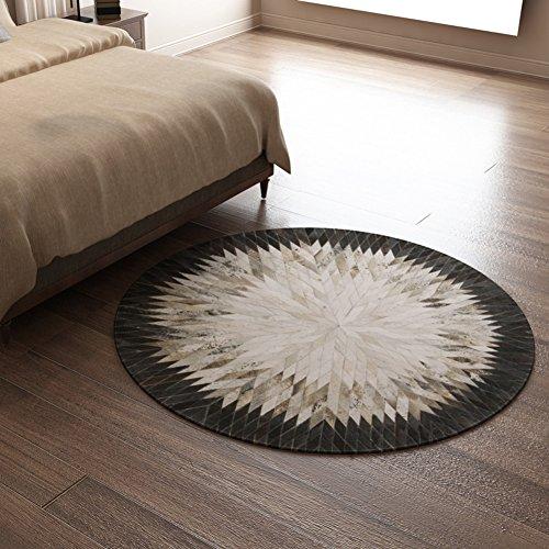 Tappeto creativo di studio accanto al letto in bianco e nero/Tappeti fatti a mano/ tappeto (Tappeti America Del Blocco)