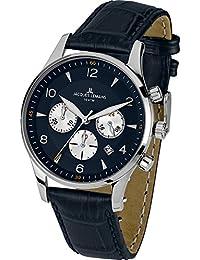 Jacques Lemans Herren-Armbanduhr XL london classic Chronograph Quarz Leder 1-1654C