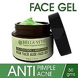 #7: Oil Control Face Gel Moisturiser for Oily Skin, 50 grams   Oily & Acne Prone Skin   Neem Tulsi Aloe   Spot Treatment   Natural & Chemical Free   Unisex   By Bella Vita Organic