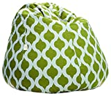Story@Home XXL Canvas Moroccan Design Bean Bag Chair Cover Without Beans, Green