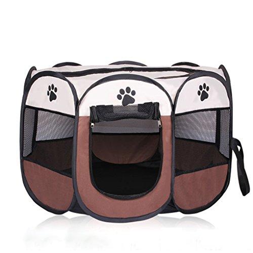 HJL faltbares Oxford-Tuch-Hundehaus-weiches Winter-Katzen-Bett Haustier-Zaun-Nest-Netto-Welpen-große Hunde-Käfig-Laufgitter-Übungs-Stifte-Zwinger (73*73*43CM, Weiß)