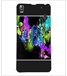 PrintDhaba Floral Pattern D-1253 Back Case Cover for LENOVO A7000 PLUS (Multi-Coloured)