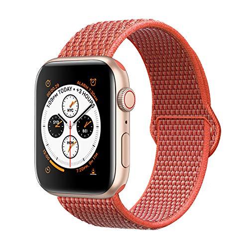 Corki für Apple Watch Armband 38mm 40mm, Weiches Nylon Ersatz Uhrenarmband für iWatch Apple Watch Series 4 (40mm), Series 3/ Series 2/ Series 1 (38mm), Nektarine
