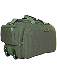 23260e88eff6 N Choice Polyester 60 L Green Travel Duffel Luggage Bag with 2 Wheels