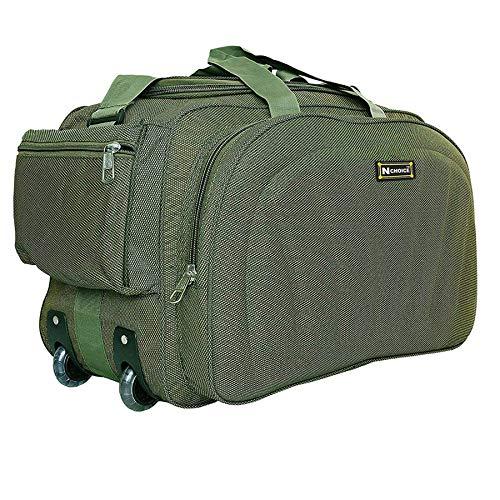 N Choice Polyester 60 L Green Travel Duffel Luggage Bag...