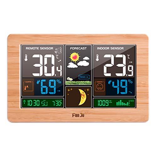 XMAGG® Smart Funk Wetterstation Wettervorhersage Thermometer Außensensor +LCD Anzeige