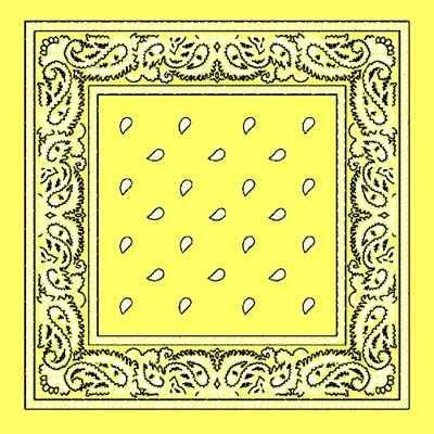 lemon-yellow-cotton-bandana-scarf-square-black-white-paisley