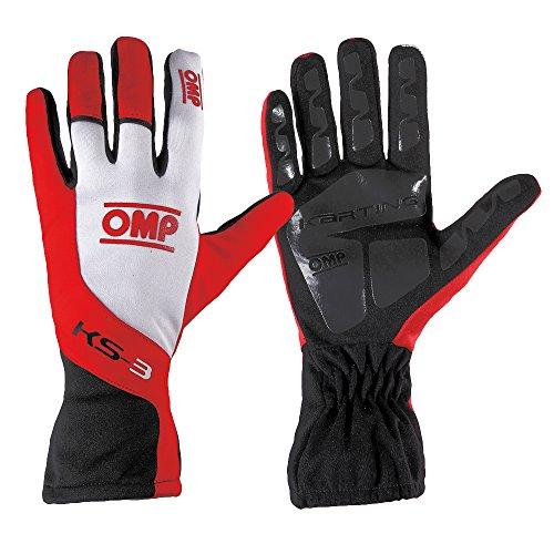 Handschuhe Aus Synthetischem Gummi (OMP OMPKK02743176005 Ks-3 Gokart-Handschuhe für Kinder, Rot / Weiß / Schwarz, Gr. 5)
