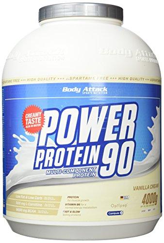 Body Attack Power Protein 90,, Vanille, 4kg Dose