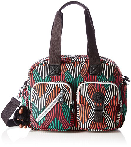 Kipling - Defea, Bolsos de mano Mujer, Multicolour (Tropic Palm Ct), 33x24.5x19...