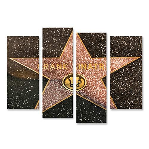 bilderfelix® Bild auf Leinwand Frank Sinatra Hollywood Star in Los Angeles auf Straße am 23. August 2013 in Los Angeles, USA. Wandbild, Poster, Leinwandbild NOC (Frank In Hollywood Sinatra)