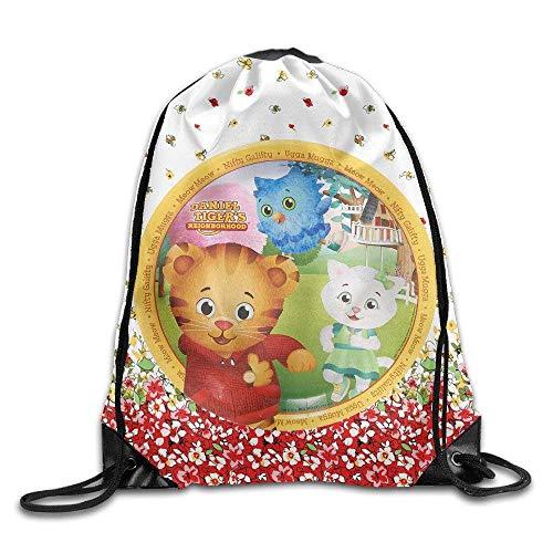 Dhrenvn meow daniel tigers neighborhood sack bag drawstring backpack sport bag
