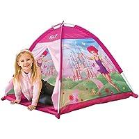 Kiddus KI60104 Tienda de campaña/casa/carpa de jugar plegable hadas voladoras casa rosa de tela, estimula la imaginación y aventuras. Para interior y exterior