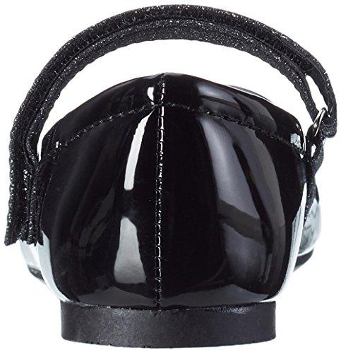 Indigo Mädchen 424 080 Geschlossene Ballerinas Schwarz (Black Patent)