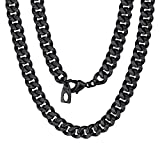 ChainsPro Atemberaubende Edelstahl Silber Herren Halskette Glieder Kette im mechanischen Stil (Mit Marken Geschenkschachtel),Schwarz