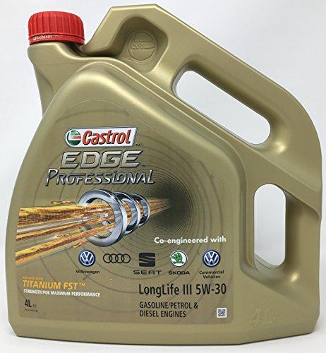 Castrol CAEP5304, Edge Professional 5W30 LLIII 4L, Olio per Moto