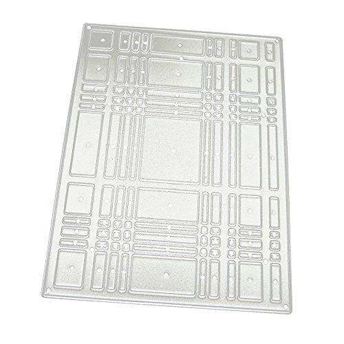 Xmiral Stanzschablone Schablonen Stanzformen,Quadratische Platte(C)