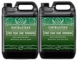 """Dirtbusters, solvente con scritta in lingua inglese """"Spray today Gone Tomorrow"""" per rimuovere muffa, alghe, licheni, muschio verde, per patio e recinto, 5 litri"""