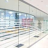 Solar Screen Milchglasfolie gestreift Sichtschutzfolie LINEAL 152cm Breite Laufmeterware Fensterfolie Selbstklebend Folie Dekofolie mit Streifen / Linien Milchglas