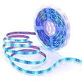 Musique Ruban à Led Etanche avec APP, Minger 5M Bande LED 5050 RGB Multicolore SMD Microphone Intégré Led Flexible Strip Light...